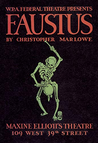 Buyenlarge Faustius by Christopher Marlowe Maxine Elliott's Theatre 109 West 39th Street by WPA Wall Decal, 24