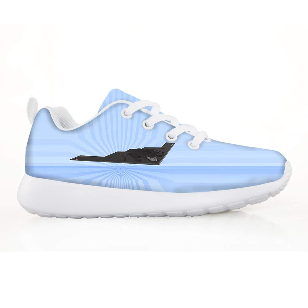 Owaheson Boys Girls Casual Lace-up Sneakers Running Shoes Airplane B2 Bomber from Void