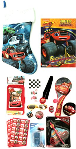 Disney Cars Pre-filled Christmas Stocking for Boys ages 3-8 Gift Bundle (Pre Filled Christmas Stockings)