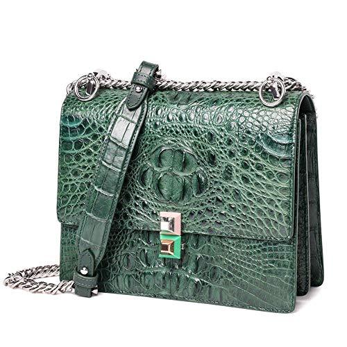 C Dames Main à green WWAVE Sac à Sacs bandoulière à pour Sac Main Femmes Sac Cuir Fashion chaîne Crocodile qwIqTPE