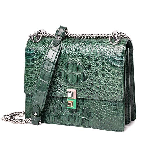pour à Femmes bandoulière Fashion WWAVE green Cuir Main Main C Sac chaîne Sac Dames à Sacs Sac Crocodile à qWt84pw