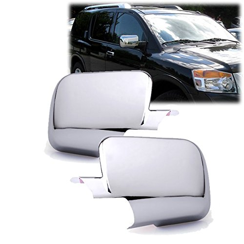 Chrome Side Door Full Mirror Cover Trim Fit Nissan Titan 2004-2015 / Armada 2005-2015 ()