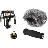 Rycote PCM-D100 Audio Recorder Kit, Includes Recorder Suspension, Soft Grip Extension Handle, Hot Shoe 3/8Adaptor, Mini Windjammer