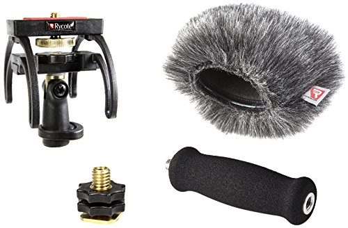 Rycote PCM-D100 Audio Recorder Kit, Includes Recorder Suspension, Soft Grip Extension Handle, Hot Shoe 3/8