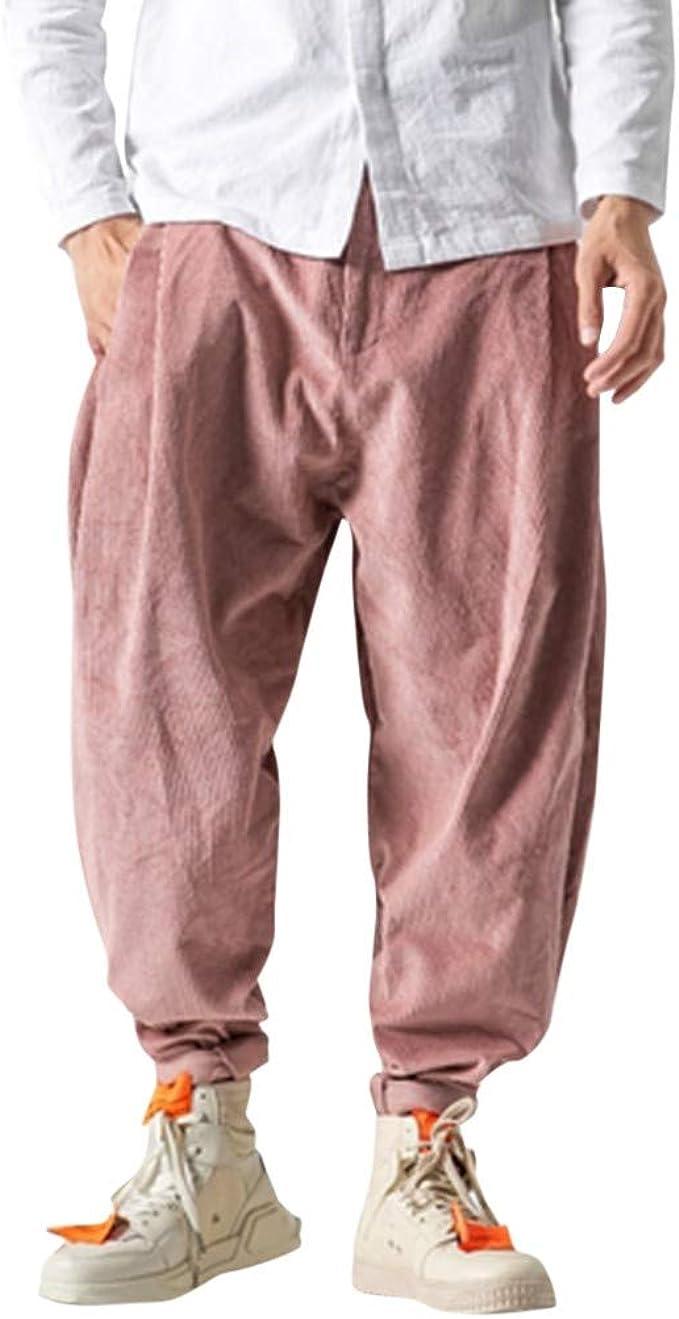 Meilily_Herren Hose Pantalones de Yoga para Hombre, Estilo Vintage ...