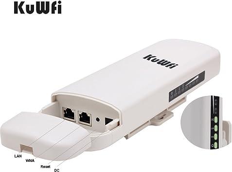 kuwfi 300 Mbps 5.8 G Wireless Outdoor CPE con 15dBi de Poe ...