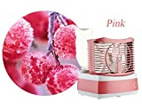 Fan Humidifier Tiny Desktop Air-conditioning Fan Water and Wind Mist Air Diffuser (Pink)