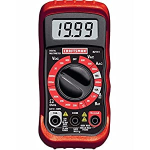 8 Functions with Craftsman Digital Multimeter Volt AC DC Tester Meter Voltmeter Ohmeter 34-82141