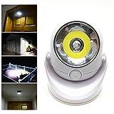 EnjoCho Sensor Light, 1PC 360-Degrees Light Cordless Motion Activated Sensor Light LED Light Swivels for Home Decor 2018 Hot Sale (White)