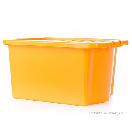 35 Litre Plastic Storage Boxes with Lids (Pack of 5) 49 x 39 x  sc 1 st  Amazon UK & 35 Litre Plastic Storage Boxes with Lids (Pack of 5) 49 x 39 x 26cm ...