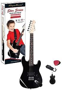 spectrum ail 64j junior size 34 inch electric guitar with bonus mini amplifier. Black Bedroom Furniture Sets. Home Design Ideas
