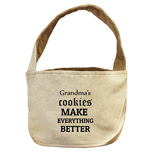 Grandma'S Cookies Make Everything Better Canvas and Burlap Storage Basket