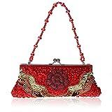 Flowers party moniliforme clutch bag Dinner Package Handbag folk style sequin handbag-B