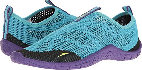 Speedo Women's SURF Knit Athletic Water Shoe, Teal, 7