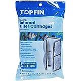 Top Fin corner internal aquarium filter cartridges (2 count)