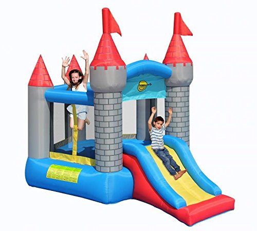 Medievil Pentagon Bouncy Castle with Slide - Rideontoys4u