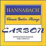 Hannabach CARBON Trebles, Medium/High Tension, 3-Treble Set