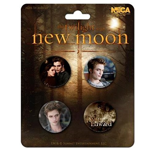 (Twilight Badge Set - Edward 4pk New Moon (Breaking Dawn))