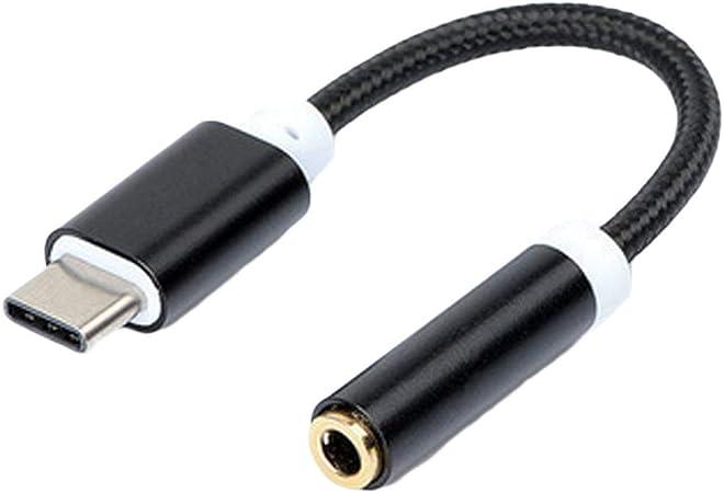 Image ofNoyoKere Cable de Carga de Audio Tipo USB Adaptador de audífono USB Tipo C a 3.5 Tipo C a 3.5 mm Auricular AUX convertidor de Audio Compatible para xiaomi 6