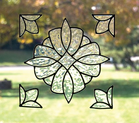 (Brewster Home Fashions Essex Stained Glass Appliqué Color: Clear)