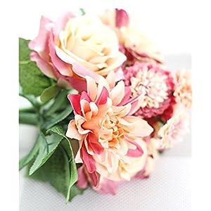 "Artificial Flower Bundle, Table flower, Rose, Dahlia and Daisy,11.8"" length 101"