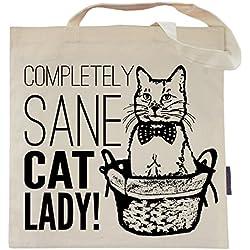Cat Tote Bag by Pet Studio Art (Casual Tote, Sane Cat Lady)