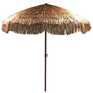 Amazon.com : EasyGo - 8' Thatch Patio Umbrella - Tropical ...