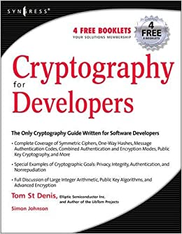 Cryptography For Developers Amazonde Tom St Denis Fremdsprachige Bucher