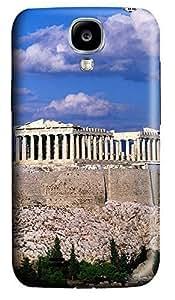Samsung S4 Case Blue Sky Acropolis Border Buildings 3D Custom Samsung S4 Case Cover