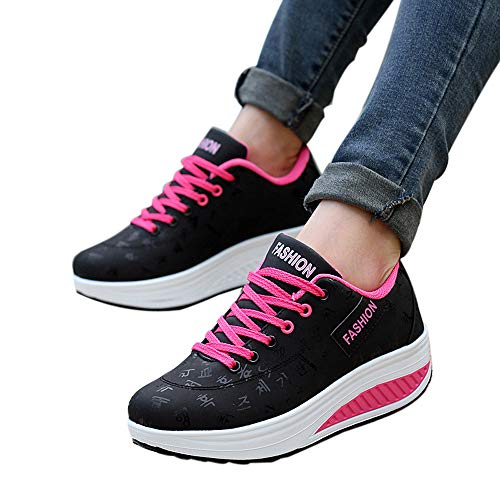 NEARTIME ☀☀Women Tops Clearance Sale! Autumn Sneakers Fashion Ladies Casual Sport Shoes Shallow Walking Shoes Wedges Shoes by NEARTIME