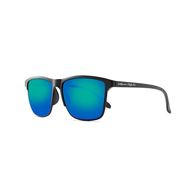 California Style Co Wave, Gafas de Sol Unisex, Verde, 140