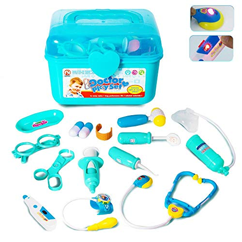 Doctor Kit For Kids Pretend Play Toy 345 Year Old Boys And Girls Birthday GiftMedical Set Playset With Electronic StethoscopeLight Sounds Age