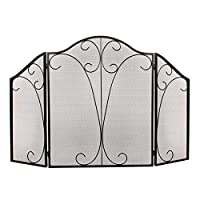 Better Garden Fireplace 3 Panel Screen