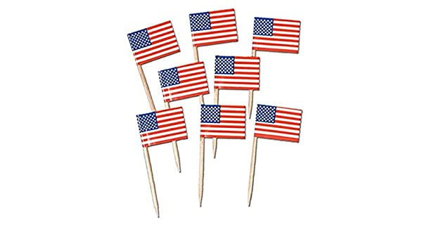Amazon com | 100-200 Pack Magik Nation Flag Picks Party Accessory