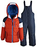 Rothschild Little Boys' Athletic Snowsuit Toddler, Red, Small/2T