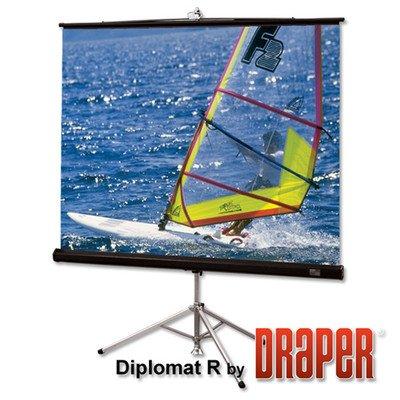 Draper Inc Matte White Diplomat/R Portable Screen - 50