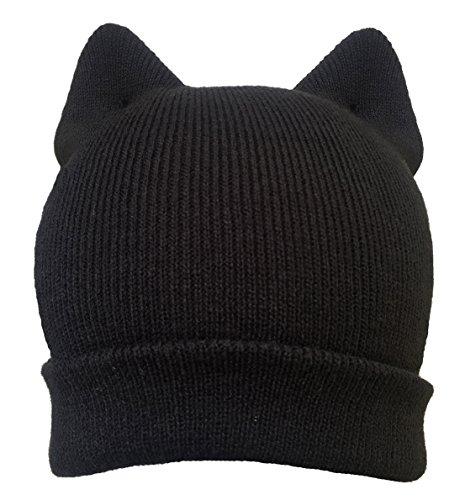 Pussy cat hat Pussycat black ear men women US Handmade Women's March pussy cat hat beanie - Costs International Shipping