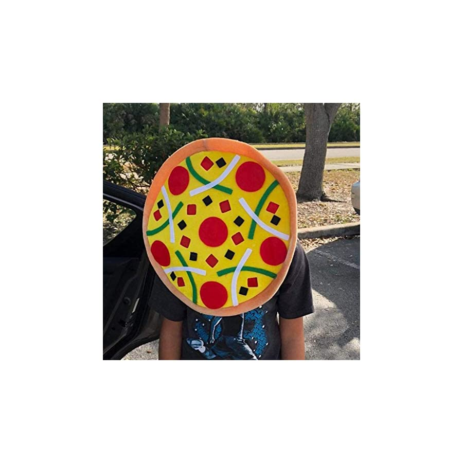 Jesse Unisex Funny Pizza Hat For Party Costumes Joke Photo Props Cap Kids Toy Christmas Birthday Gift