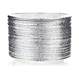 DOBI 9' Pie Pans (50 Pack) - Disposable Aluminum Foil Pie Plates, Standard Size, 9' x 1.25'