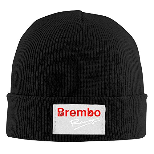 (LMHB Brembo Racing Wool Cool Knit Caps\r\n Pattern Beanie Hats Style Black)