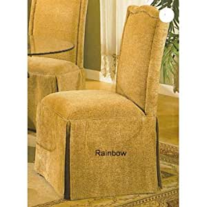 4 New Parson Chairs With Skirt In Beige Fabric Chairs