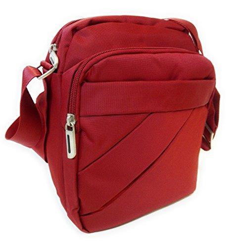 CONTRO VENTO - Borsello Tracolla Uomo 1, Borse organizer portatutto (Rosso) Rosso