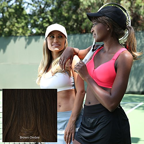 ADORNA CHIC by MILANO Premium Synthetic Hat & Hair Extension Hat Fall Combo - Dark Brown (Hats With Hair Attached)