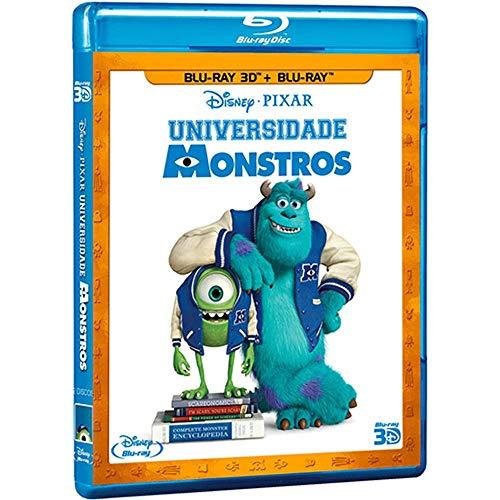Blu-ray 3D Disney Universidade Monstros [ Monsters University ] [ Brazilian Edition ] [ Audio English + Portuguese + Mandarin + Korean ] (Monsters Inc And Monsters University Blu Ray)