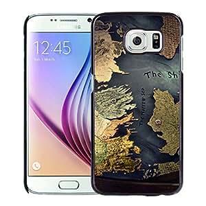 Hot Sale Samsung Galaxy S6 Cover Case ,Westeros Map Black Samsung Galaxy S6 Phone Case Unique And Fashion Design