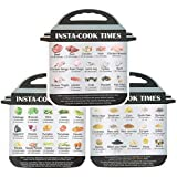 3 in 1 Magnetic Cheat Sheet for Instant Pot/Pressure Cooker Food Images 45 Common Prep Functions