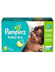 Pampers Baby Dry Diapers Size 5, 112 Count