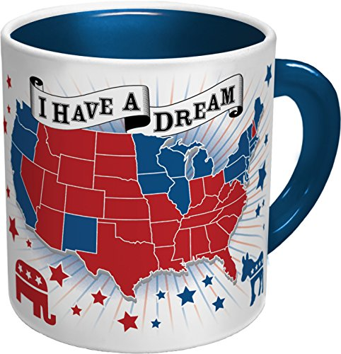 Democratic Dream Heat Changing Coffee Mug - Add Hot Liquid and Watch Red States Turn Blue - Comes in a Fun Gift Box - by The Unemployed Philosophers Guild