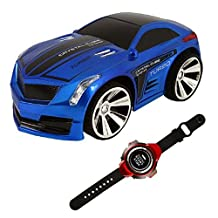 Megadream Voice Remote Control Car, RC Toy Vehicles w/ 2.4Ghz Voice Command Smart Watch - Rechargeable, Engine Start Sound, Headlights, Drift, Turbo for Kids Birthday Christmas New Year Gift