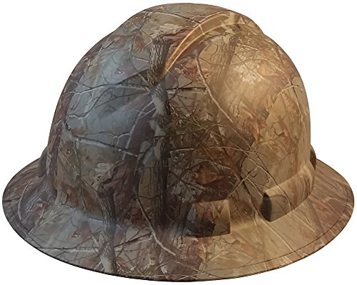 Pyramex Full Brim RIDGELINE Patterned Hard Hat with 6 Point Ratchet Suspension and Hard Hat Tote - Camo Pattern